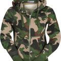 SWEAT ZIP CAPUCHE FEMME FORESTIER LONDON LADY. COTON/POLYESTER. TS A XL - CAMOUFLAGE