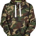 SWEAT CAPUCHE HOMME FORESTIER ATLANTA. COTON/POLYESTER. TXS A 3XL - CAMOUFLAGE