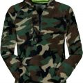 SWEAT POLAIRE ZIP HOMME FORESTIER DOLOMITI+. 100% POLYESTER. TS A 3XL - CAMOUFLAGE