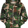 SWEAT ZIP CAPUCHE HOMME FORESTIER LONDON. COTON/POLYESTER. TS A XXL - CAMOUFLAGE